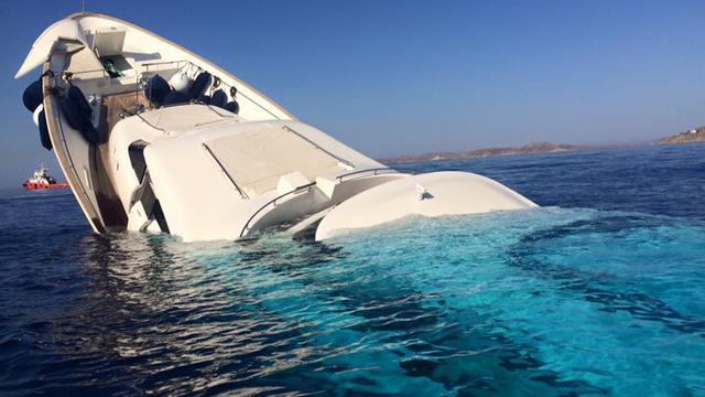 Yacht Sinking Mykonos Greece