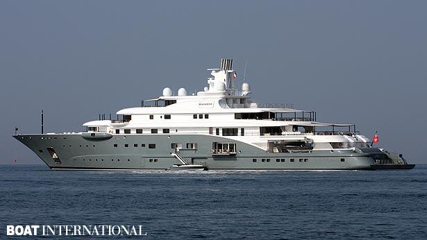 Top 200 largest yachts in the world Superyacht Radiant