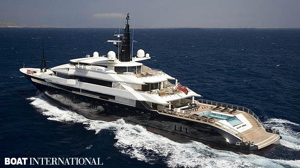 Top 200 largest yachts in the world Superyacht Alfa Nero