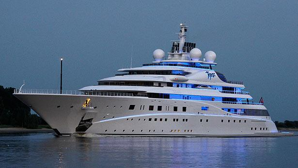 Top 200 largest yachts in the world Superyacht Topaz