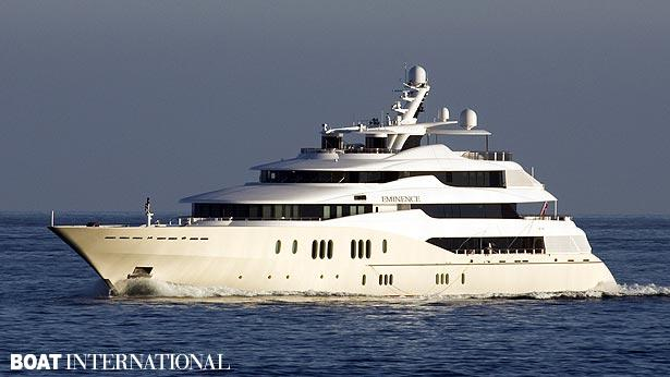Top 200 largest yachts in the world Superyacht Eminence